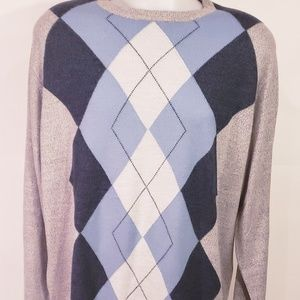 Men's Dockers Crewneck Sweater Long Plaid DesignXL